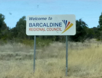 Entering the Barcaldine Regional Council area