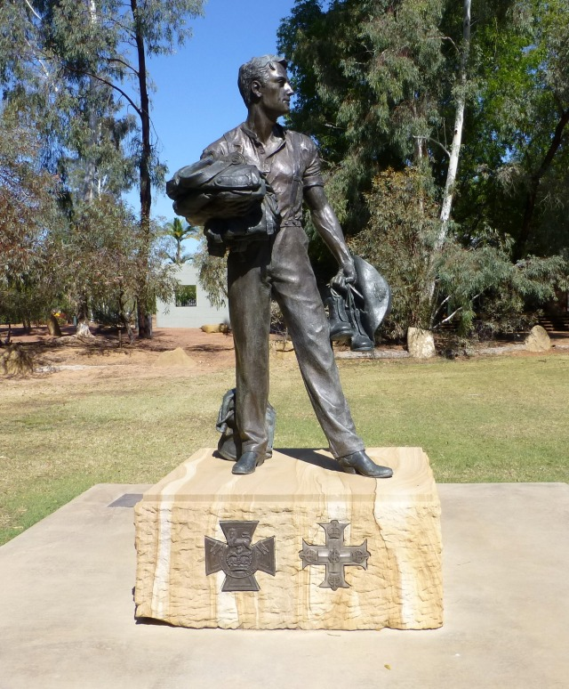 Edward Towner VC - Statue at Blackall