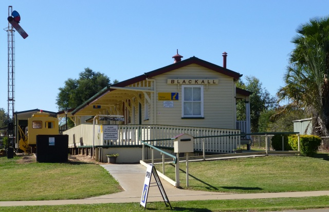 The Blackall Visitor Information Centre in the relocated Railway Station building