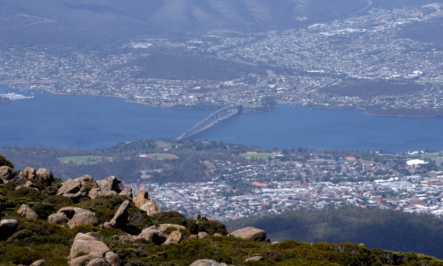 Tasman Bridge viewed from Mt Wellington