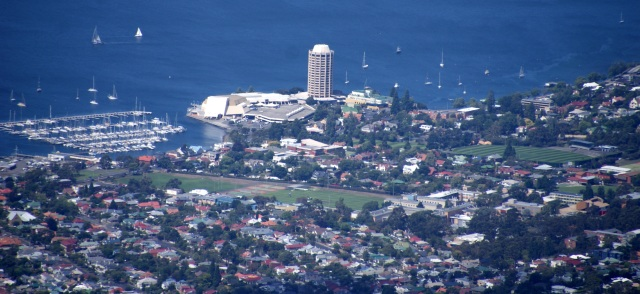Wrest Point viewed from Mt Wellington