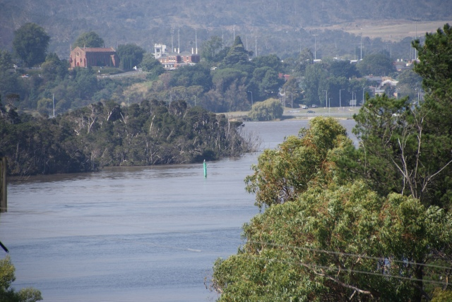 Tamar River from the Motel balcony