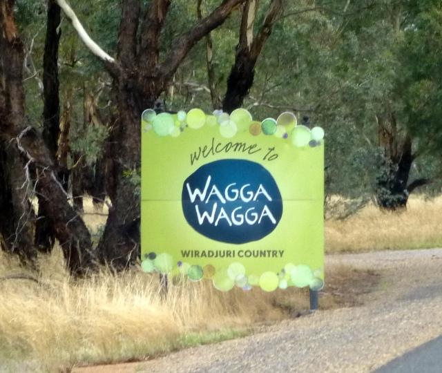 Entering Wagga Wagga