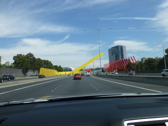 En route to the Port of Melbourne