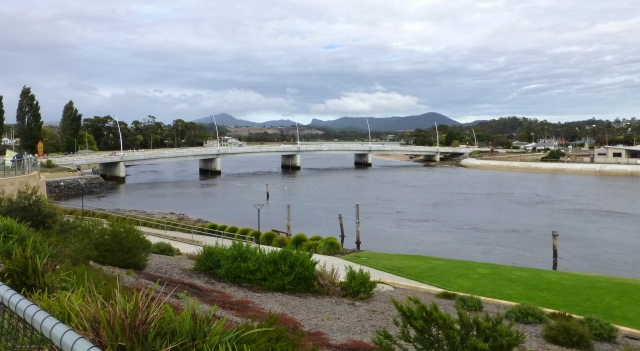 Bridge crossing the river at Ulverstone on the road to Penguin