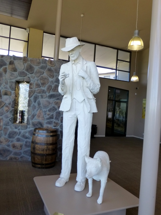 Figure on display at Hellyers Road Distillery