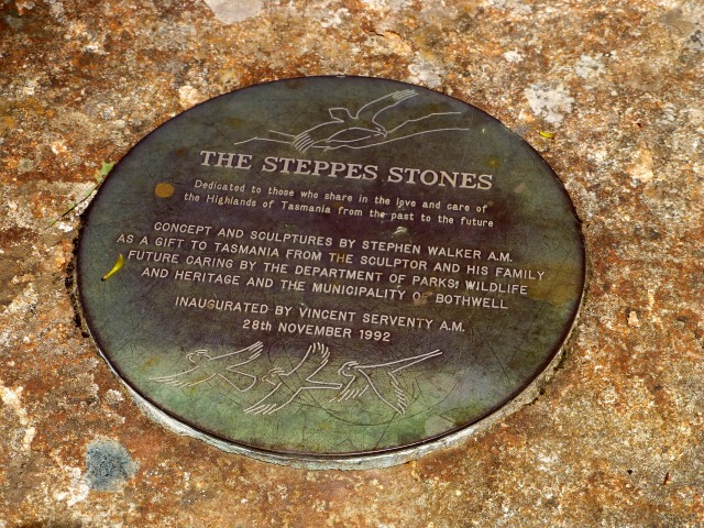 Plaque detailing the history of the Steppes Sculptures