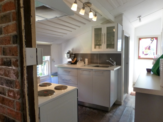 Modernised kitchen in our cottage at Bothwell