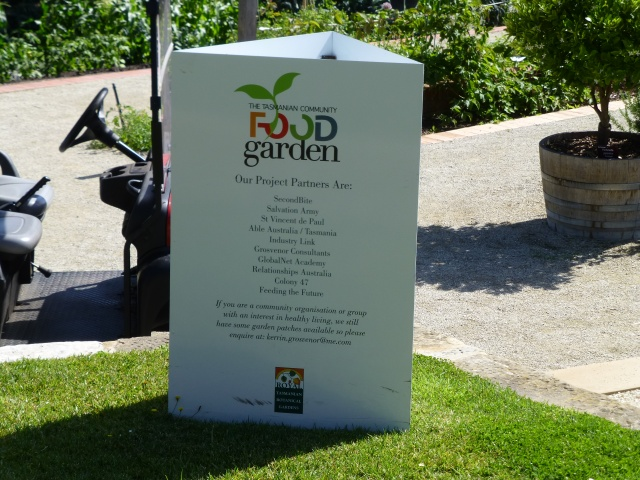 The food garden is a partnership with many organisations at the Hobart Gardens