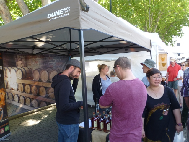 Alcoholic tastings at Salamanca Market