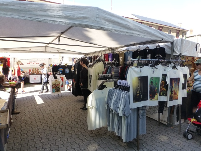 Tee shirts galore at Salamanca Market