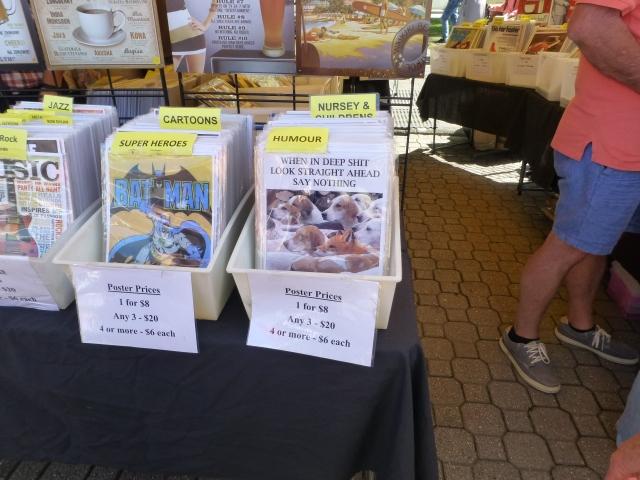 Humorous posters at Salamanca Market