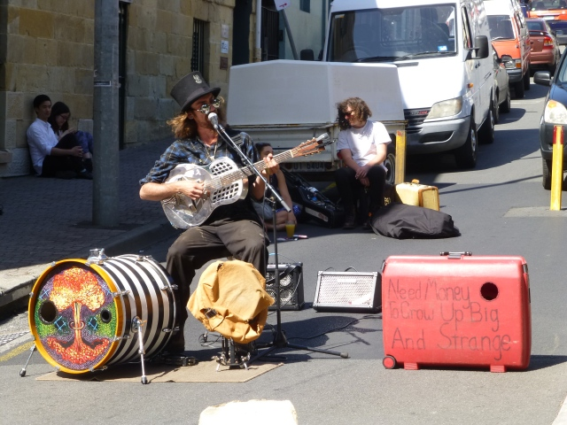 "He was already ""Big and Strange"" but sounded alright at Salamanca Market"