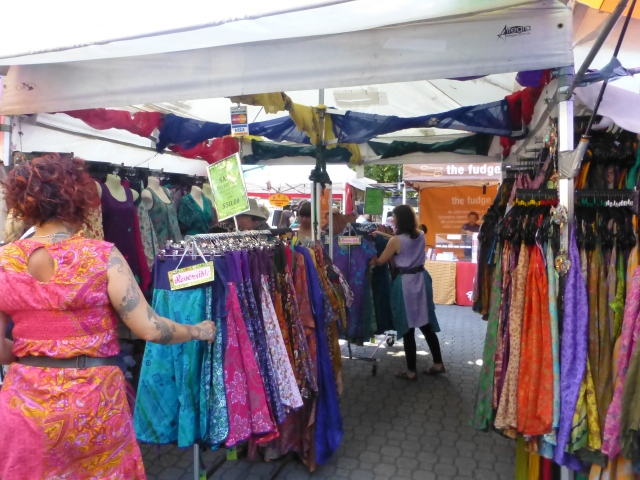 Dresses galore at Salamanca Market