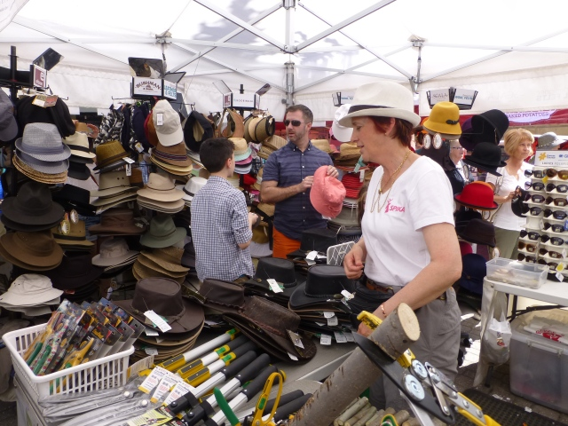 Hats, hats and more hats at Salamanca Market