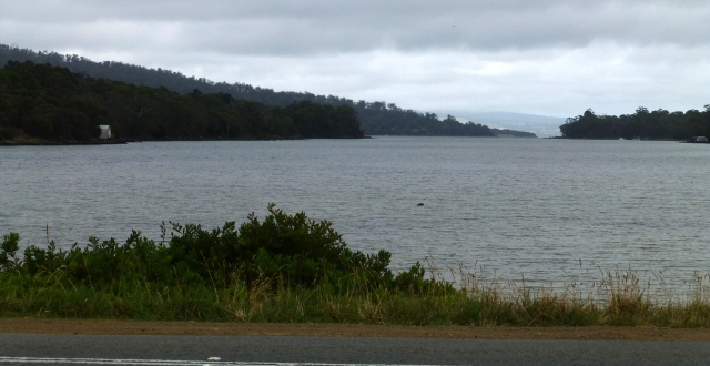 Bay on the western side of Eaglehawk Neck