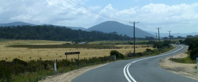 The Tasman Highway - turnoff to Denison Beach