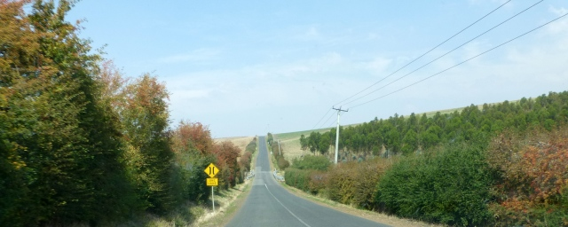The road to Evandale
