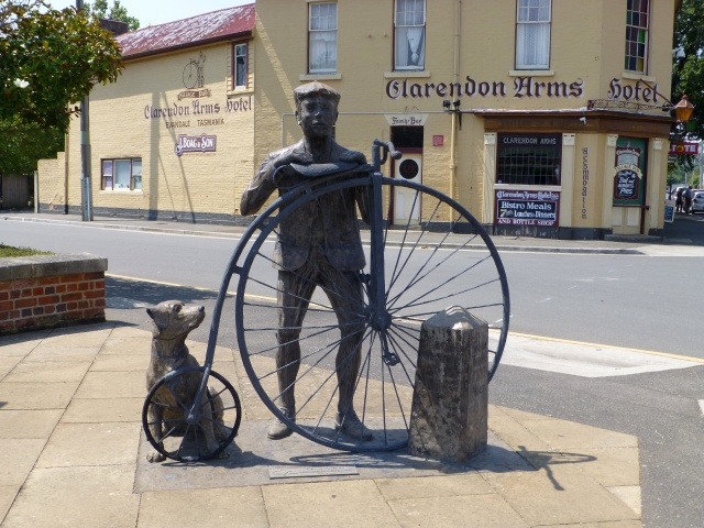 "The ""Time Traveller"" statue at Evandale"
