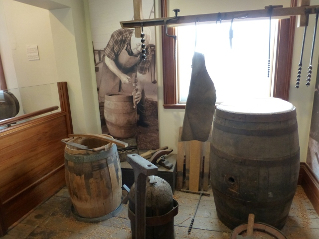 Cooperage display at Boags Brewery in Launceston