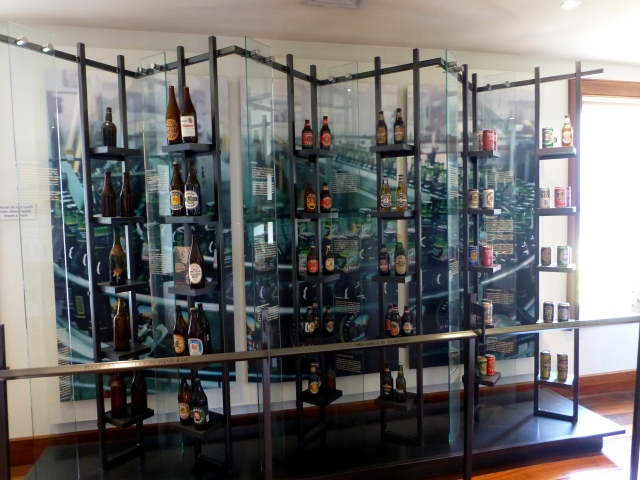 Bottle & Can display at Boags Brewery in Launceston