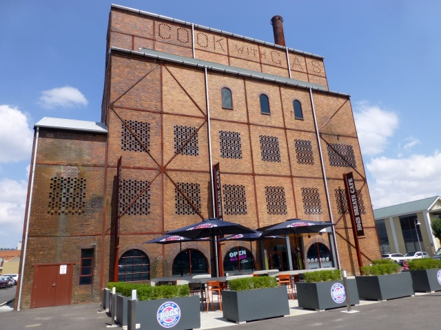 The old gas works at Launceston now houses the Hogs Breath Cafe