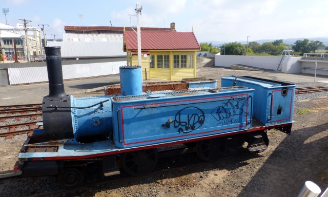 An old engine awaiting restoration at Launceston