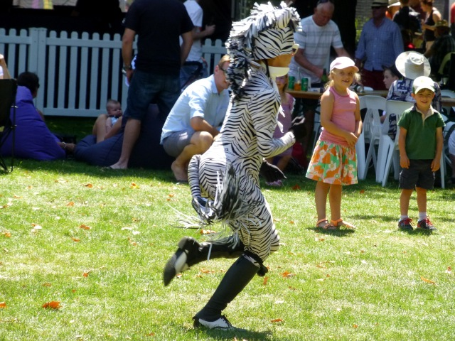 Dancing Zebra at Festivale 2016 in City Park Launceston