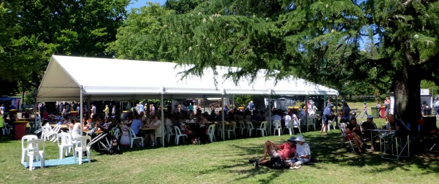 Plenty of provision for patrons at Festivale 2016 in City Park Launceston