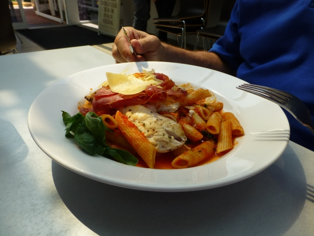 Chicken Pasta for Lunch at Anvers