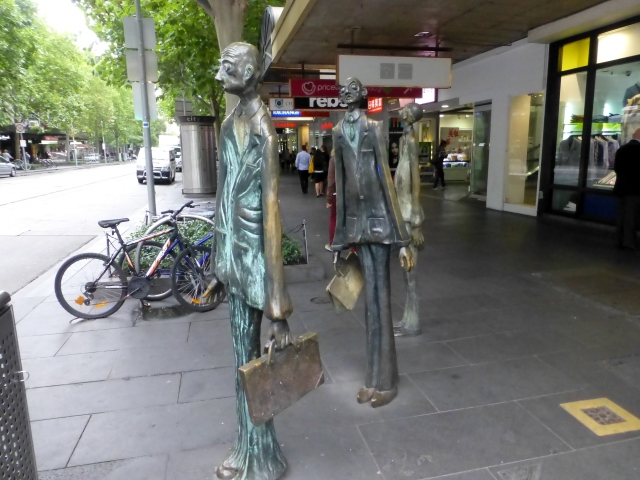 Statuary in Bourke Street Melbourne
