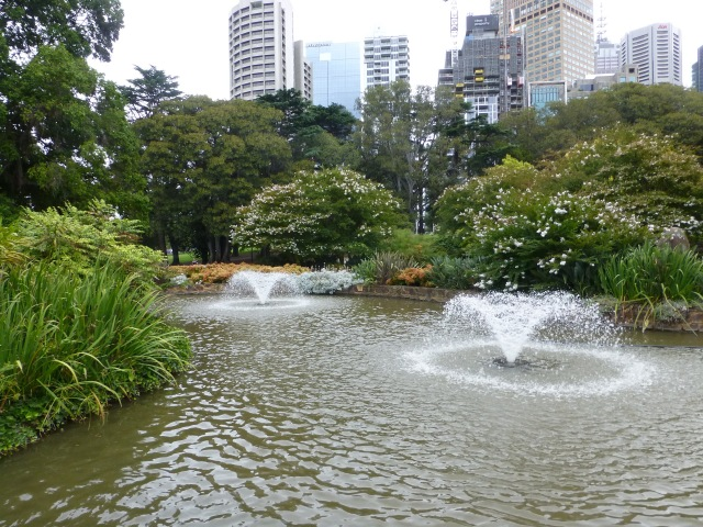 Fountains in Treasury Gardens Melbourne