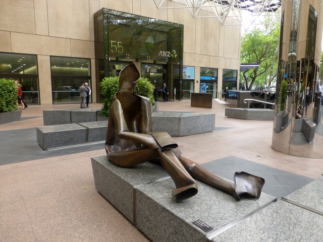 Statuary in Collins Place Melbourne