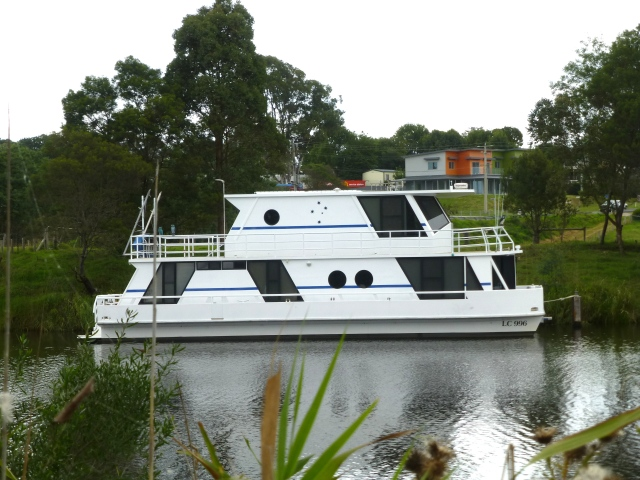 House boat on the river
