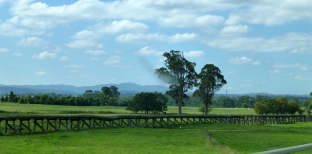Old timber bridge on the outskirts of Orbost