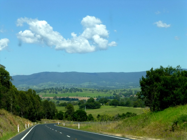 Along the Snowy Mountains highway on the way to Cooma