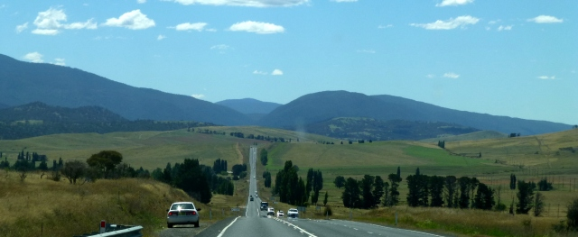 On the road between Cooma and Canberra