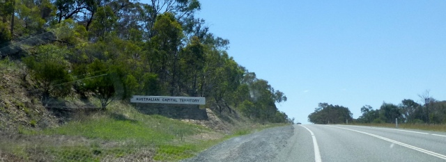 You are entering the Australian Capital Territory